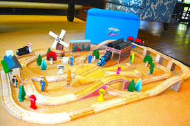 seven thomas wooden railway table set that had gone way too