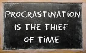 the art of structured procrastination open culture proverb procrastination is the thief of time written