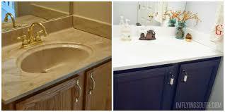 Painting In Bathroom Remodelaholic Painted Bathroom Sink And Countertop Makeover