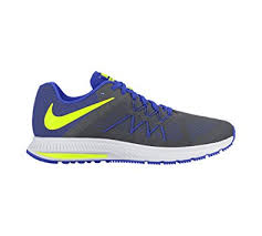 nike running shoes grey. nike men s zoom winflo 3 running shoe dark grey/volt/racer blue/ shoes grey