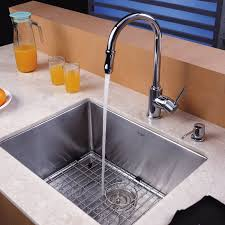 23 x 18 undermount kitchen sink with faucet and soap dispenser