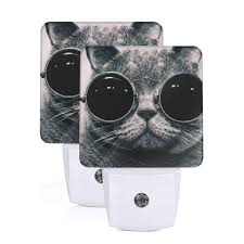 Cat 2 Led Lighting Janeither Set Of 2 Led Night Lights Cool Cat With Big