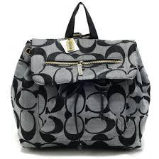 Coach Classic In Signature Medium Grey Backpacks 21747