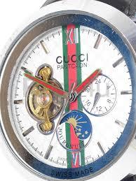 gucci 1142. gucci 1142 designer mens silver dial automatic black rubber strap pantcaon watch