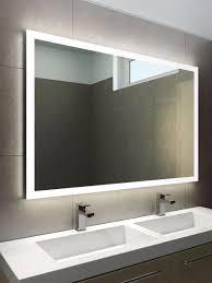 Lighted Bathroom Mirrors With Shaver Socket Audio Halo Wide Led Bathroom Mirror