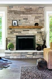 smlf installing dry stack stone fireplace stacked surround veneer redo cultured over brick
