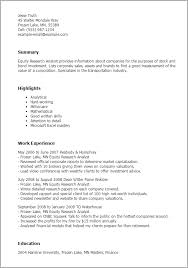 Equity Research Analyst Salary Cover Letter Samples Cover Letter
