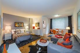 Decorating One Bedroom Apartment Adorable 48SquareFoot Rentals Good Things In Small Packages