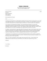 Office Position Cover Letter Administrative Assistant Cover L Art