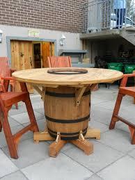 wine barrel outdoor furniture. wonderful barrel wine barrel table my husband just finished making for outdoor furniture e