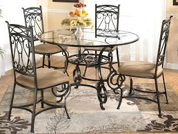 round glass dining table set for 6 unique dining room stunning round glass dinette sets round