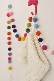 ball garland for wall art