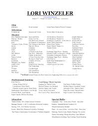 Audition Resume Template Resume Cv Cover Letter
