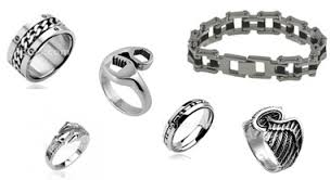 snless steel biker jewelry