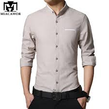 dress shirt size plus size 4xl 2018 new men casual shirt fashion stand collar mens
