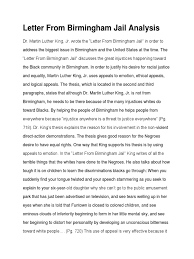 Letter From Birmingham Jail Analysis Martin Luther King Jr