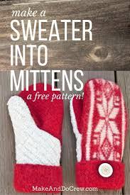Sweater Mitten Pattern Interesting Decorating
