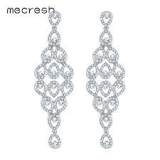 big chandelier earrings rhinestone wedding hanging earrings for women crystal big chandelier statement long earrings jewelry