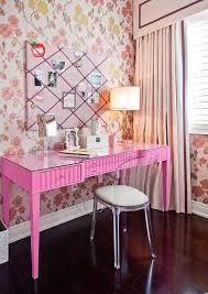 pink home office design idea. Girl\u0027s Pink Color Computer Desk Home Office Design Idea