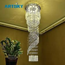 long stairwell chandelier modern large crystal chandelier lighting for hotel hallway