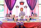 Decoracao de festa da princesinha sofia