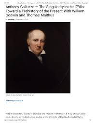 PDF) Anthony Galluzzo — The Singularity in the I790s: Toward a Prehistory  of the Present With William Godwin and Thomas Malthus   anthony galluzzo -  Academia.edu