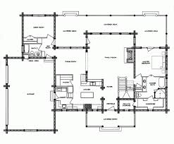 Inspiring Log Cabin Floor Plans With Garages And Large Family Room Large Log Cabin Floor Plans