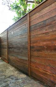 Fence Contractors San Diego: Building a modern style horizontal fence.