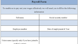 Free 20 Payroll Forms In Xls Pdf
