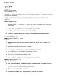 Machinist Resume Template Machinist Resume Objective Examples Dadajius 60