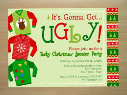 Ugly christmas sweater party invitations will give you ideas how to make  fetching party invitation 1