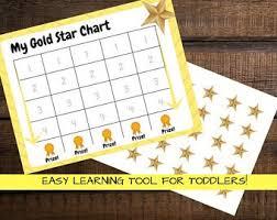 Gold Star Chart Etsy