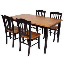 kitchen tables target 5 piece shaker dining set wood black oak boraam industries