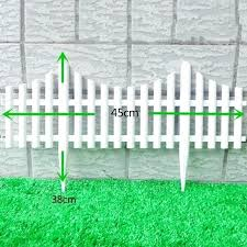 plastic garden fence for delicate lawn kindergarten yard decor pin type white panels