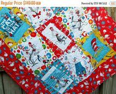 The Magical Cat in the Hat Quilt Kit by Robert Kaufman Fabrics ... & Dr Seuss Baby Quilt The Cat in the Hat by bellazahn on Etsy https:/ Adamdwight.com