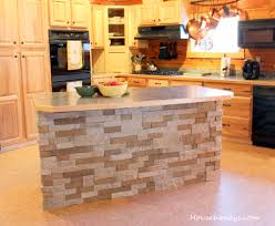 Air Stone Walls Kitchen Island Ideas Bar Stacked Diy Veneer ...