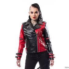 leather jacket women s asylum biker heartless poi543