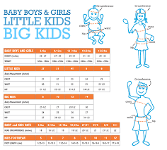 Boys Size Chart By Age Sizing Information For Our Sun Protective Clothing Uv Skinz