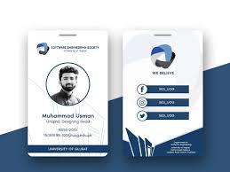 Muhammad Engineering Dribbble Usman Society Id Muudy Card On By Design Software