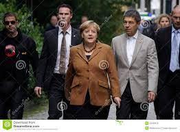 Angela Merkel with husband editorial ...