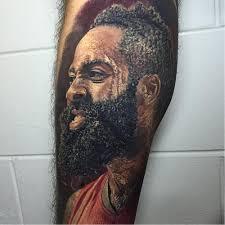 This tattoo artist is a beast!!! Tattoo Uploaded By Joe James Harden Looking Intense By Steve Butcher Via Ig Stevebutchertattoos Stevebutcher Sports Portraits Jamesharden Houstonrockets 196912 Tattoodo