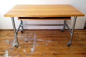 rolling wood top workbench