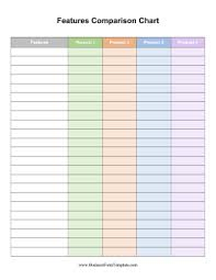 Features Comparison Chart Template