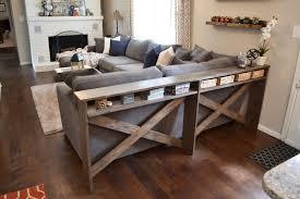 sofa table diy console building a sofa table with shelf ideas interest building a