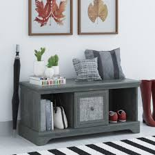 Storage Benches For Living Room August Grove Middleton Wood Storage Entryway Bench Reviews Wayfair