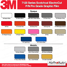 Cherokee Color Chart Color Chart All 3m And Avery Vinyl Color Samples