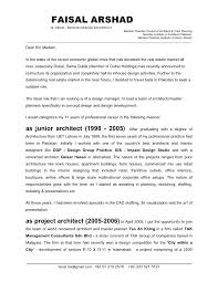 Architect Cover Letter Resume Format Archives Do 5 Things