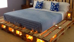under bed led lighting. Bed Made Out Of Repurposed Pallets With Under-bed LED Lights Under Led Lighting