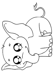 Small Picture Elephant coloring pages cute baby elephant ColoringStar
