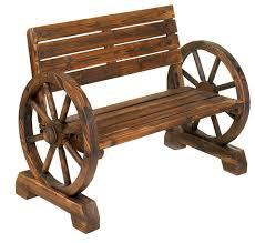 Wagon Wheel Bench farmhouse-outdoor-benches